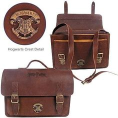 (ONLY 1 LEFT) - Harry Potter Double Buckle Leather Briefcase - You don't need to work at the Ministry of Magic to carry this stunning, European-crafted Harry Potter briefcase! Made of high quality leather, the briefcase features a metal 'Hogwarts' logo on the outside front pocket and the 'Harry Potter' logo embossed on the flap-cover.