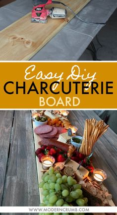 DIY Charcuterie Board & How To Fill It Up | Easy and Delicious Family Friendly Recipes | Arizona | Modern Crumb Food Platters, Serving Platters, Party Platters, Cheese Platters, Charcuterie And Cheese Board, Cheese Boards, Fancy Cheese, Good Food, Yummy Food