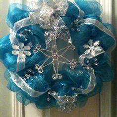 Deco Mesh Wreath / winter wreath for January