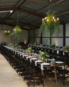 """""""Some late night #barn #inspiration for you! Epic barn @graciosabyronbay Hire @theweddingshed Foliage Installations @thefrenchpetal Planning & Coordination…"""""""