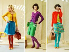 """turquoise tights. check.  from bonnie and buttermilk (a german """"etsy""""-ish shop).  found via Draw Pilgrim"""