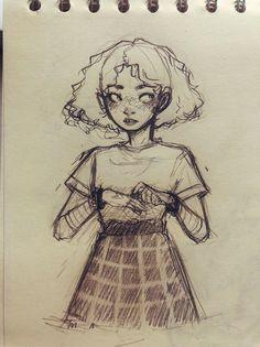 cartoon art Me gusta, 62 comentarios - - art Girl Drawing Sketches, Art Drawings Sketches Simple, Pencil Art Drawings, Cartoon Drawings, Cool Drawings, Drawing Art, Sketch Art, Cartoon Illustrations, Drawing Ideas