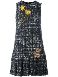 Dolce & Gabbana Women Knee-Length Dress on YOOX. The best online selection of Knee-Length Dresses Dolce & Gabbana. Chanel Fashion, Diy Fashion, Womens Fashion, Knee Length Dresses, Short Dresses, Tweed Fabric, Tweed Dress, Embroidery Dress, Winter Dresses