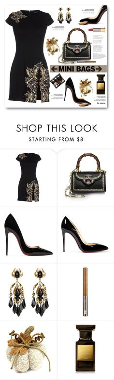"""So Cute: Mini Bags"" by jelenalazarevicpo ❤ liked on Polyvore featuring Dsquared2, Gucci, Christian Louboutin, Urban Decay, Tom Ford and Vincent Longo"