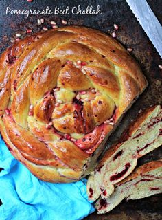 Pomegranate Beet Challah- great for Rosh Hashanah or the best French Toast ever!!