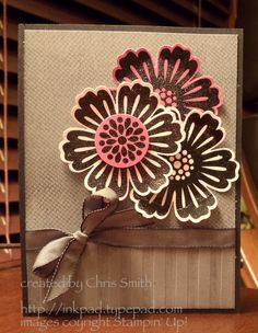 Stampin Up! Mixed Bunch/Punch  large flower card