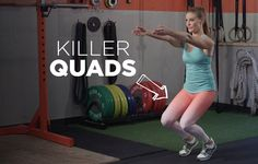 15 Quad Exercises for the Lean, Strong Legs of Your Dreams Body Sculpting Workouts, Toning Workouts, Workout Routines, Workout Tips, Quad Exercises, Thigh Exercises, Stretches For Quads, Quad Workouts At Home, Quad Strengthening