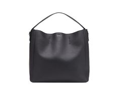 Furla Capriccio hobo with soft grained leather and an electric blue contrast color inside