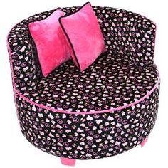Newco International Redondo Tween Velvet Chair: Kids\' & Teen Rooms ...