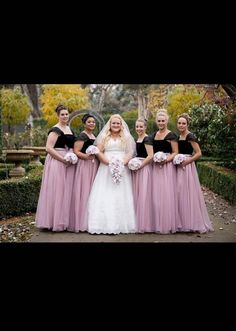 Five bridesmaids dresses altered by Jerrabomberra Clothing Alterations.