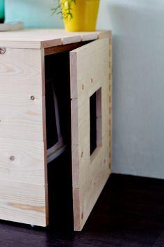 Houten Kattenbak Ombouw // Wooden Cat Litter Box Cover door GIJSenKO