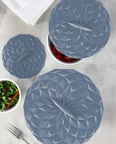 SALE ALERT: 31% off! GIR's award-winning suction lids turn any bowl into a storage container. A reusable, eco-friendly alternative to plastic wrap and foil, these lids can be used in the freezer, fridge, oven, microwave, and dishwasher. Made from heavy-duty, heat-safe silicone (up to 550°F!), they're dishwasher safe and won't absorb flavors, smells, or colors. And the geometric designs fit in beautifully with holiday tablescapes, making them perfect for keeping food warm on the table. Reheat or Steam Recipes, Airtight Food Storage Containers, Keep Food Warm, Storage Sets, Plastic Wrap, Geometric Designs, Pyrex, Slate, Freezer