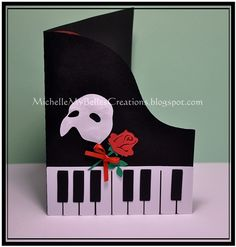 I have been asked to create some sample Phantom of the Opera birthday invites. This is what I have come up with. The rose is Penny Duncan'...