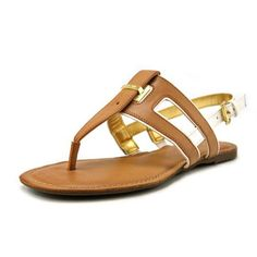 Tommy Hilfiger Lynnie Women Open-Toe Synthetic Tan Slingback Sandal - Walmart.com