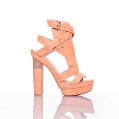 Agatha High Heels Peach, $175, now featured on Fab.