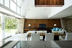 Tucked away in a scenic mountainside and offering jaw-dropping views over the neighboring island of Koh Phangan, Aqualina Holiday Villa is an amazing Koh Phangan, Villa, Architecture Images, Interior Decorating, Interior Design, Architect House, Architectural Features, Home Goods, Living Spaces