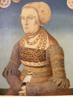 Markgräfin Elisabeth von Baden, 1525. Painter Hans Wertinger. Museum Veste Coburg