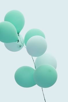 Mint green balloons