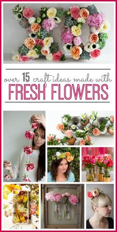 over 15 ideas for using fresh flowers in crafts - - -Sugar Bee Crafts