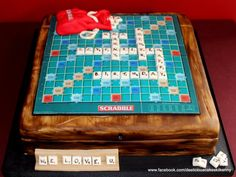 Scrabble - Cake by Deelicious Cakes