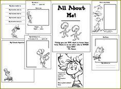 The Art of Teaching: A Kindergarten Blog: Dr. Seuss All About Me Book