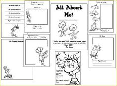 Dr. Seuss All About Me Book~ Free printable!