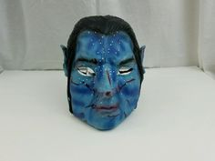 AVATAR JAKE SULLY BLUE RUBBER HALLOWEEN CHARACTER  MASK FREE SHIPPING #unbranded