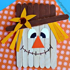 popsicle-stick-kids-crafts - Fall Crafts For Toddlers Fall Crafts For Kids, Holiday Crafts, Art For Kids, Fall Party Ideas For Kids School, September Kids Crafts, Harvest Crafts For Kids, Fall Arts And Crafts, Daycare Crafts, Preschool Crafts