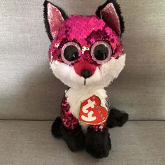 Ty Flippables JEWEL Sequin Fox Dinosaur Plush Regular Soft Big-eyed Stuffed  Animal Collection Doll Toy Features  Stuffed   Plush It. f1add200ff25