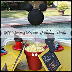 DIY Mickey Mouse Birthday Party Decorations www.lifeofthefarmerswife.com
