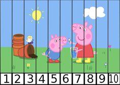 Worksheet 12345678910 puzzles 1 al 5 trabajamos la motricidad puzles de numeros pepa pig 10 1