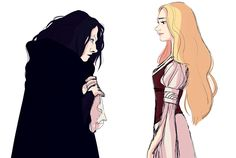 a little Wormtongue and Eowyn sketch