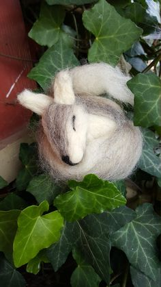 Unique adorable sleeping wolf by WhitmoreWhimsicals on Etsy