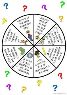 FREE Group Reading Comprehension Spinner from Imaginative Teacher on TeachersNotebook.com -  (3 pages)  - After a story has been read to the group (regardless of size), spin the  spinner and where it lands identifies the question to be asked.