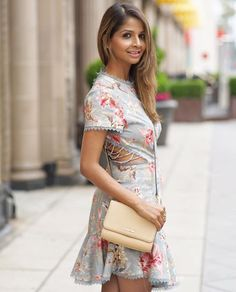 eb16d773244 Floral dress by Zimmermann Crossbody bag by Calvin Klein. Find this Pin and  more on Fashion by Suma Gowda.
