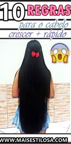 CLIQUE AQUI e descubra 10 REGRAS que farão o seu cabelo crescer super RÁPIDO! #projetorapunzel #dicasdecabelo #dicas