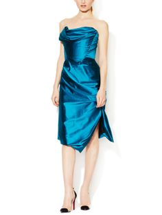 Gold Label Silk Satin Strapless Dress by Vivienne Westwood at Gilt
