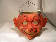 Image result for halloween devil paper mache bucket reproduction