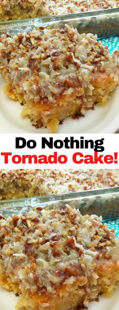 Easy Desserts, Delicious Desserts, Yummy Food, Coconut Recipes, Baking Recipes, Tornado Cake, Cupcake Cakes, Cupcakes, Cake Mix Recipes