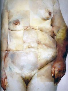 Jenny Saville, Hybrid, 1997, Oil on canvas, 274.3 x 213.4 cm @ Saatchi Gallery