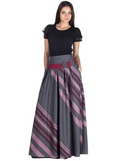 серая юбка в диагональную полоску Tall Girl Fashion, Modest Fashion, Hijab Fashion, Maxi Skirt Tutorial, Long Skirt Outfits, Modest Skirts, Stylish Girl Images, Mode Hijab, Fashion Boutique
