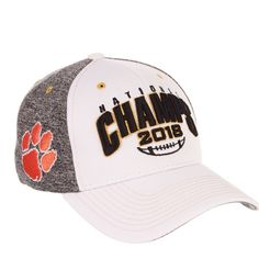 ea19fe45da4 Clemson Tigers 2018-2019 Football National Champions Stretch Fit Hat Cap   ClemsonTigers Support your