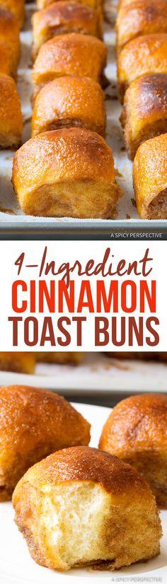 4 Ingredient Cinnamon Toast Buns