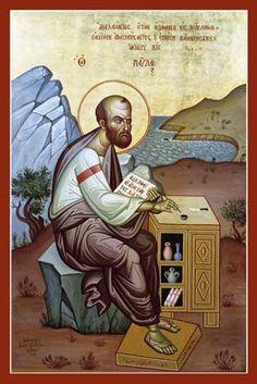 St. Paul the Apostle (Kontoglou) Orthodox Icon » Mounted Orthodox ...