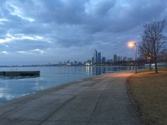 Chicago Lakefront before sunrise
