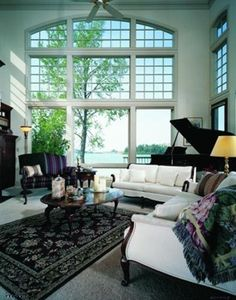 Light Filled Living Room Featuring E-Series Windows