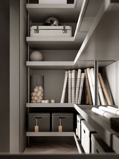 HD#1001 on Behance Wardrobe Dresser, Wardrobe Closet, Walk In Closet, Sliding Wardrobe, Bookcase Storage, Shelving, House Shelves, Corporate Office Design, Room For Improvement