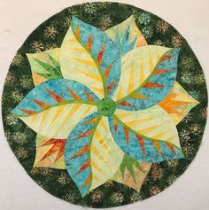 Poinsettia, Quiltworx.com, Made by CI Shirley Scott Table Topper Patterns, Table Toppers, Free Paper Piecing Patterns, Quilt Patterns, Foundation Paper Piecing, Poinsettia, Quilting Ideas, Sewing Ideas, Fabric Design