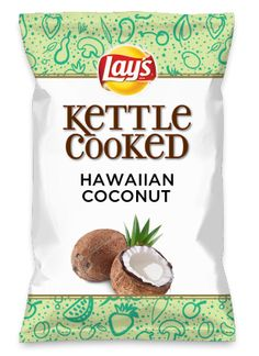 Wouldn't HAWAIIAN COCONUT be yummy as a chip? Lay's Do Us A Flavor is back, and the search is on for the yummiest chip idea. Create one using your favorite flavors from around the country and you could win $1 million! https://www.dousaflavor.com See Rules.