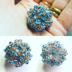 """40 Likes, 2 Comments - Justine Gage (@tootalltobead) on Instagram: """"This is what I made with my Zoliduo beads. A beaded bead! Fun! #beadedbead #beads #beadwork #zoliduo"""""""